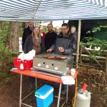 Belegstellenfest 2021 Grill unter Pavillion